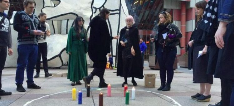WITCH Collective performing in downtown Chicago